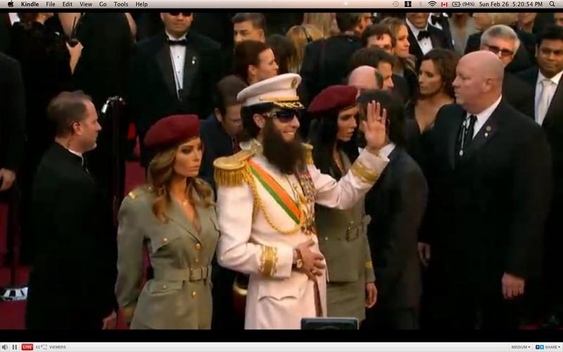 Sasha Baron Cohen, as The Dictator